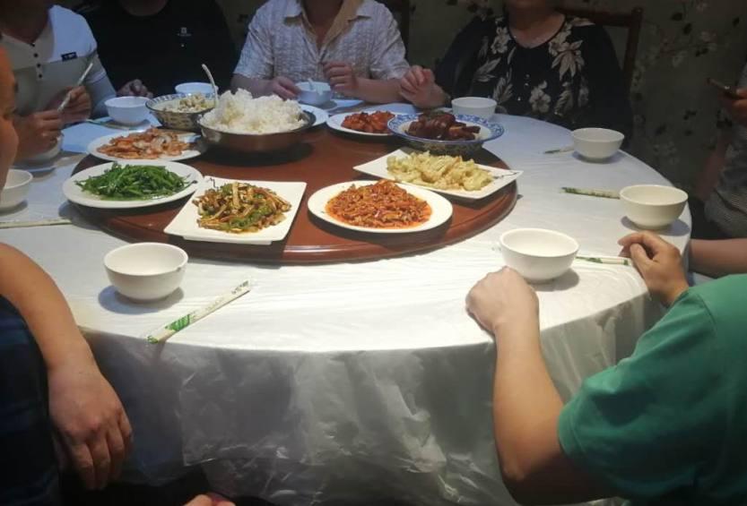 合肥到苏州旅游团队用餐