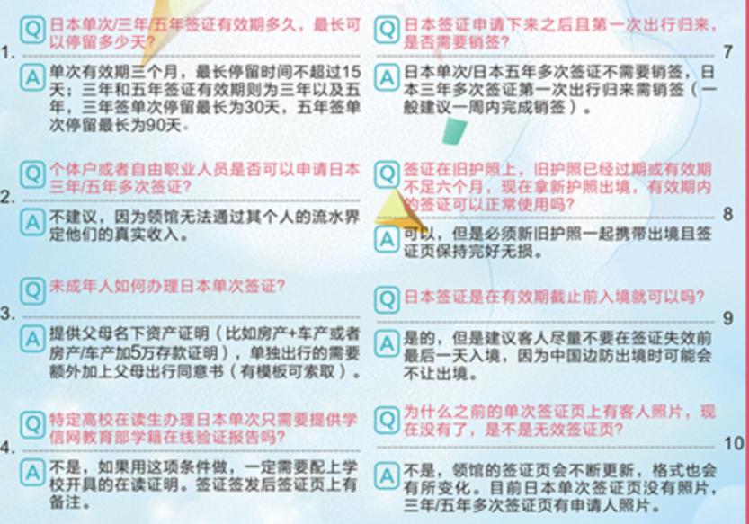 合肥代办日本签证问题